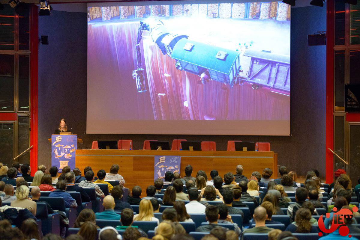 Pixar director of photography Kim White presents at a previous VIEW Conference on Inside Out.