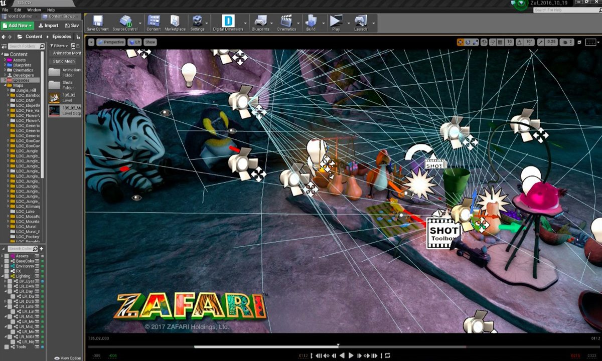 Upcoming Animated Series 'Zafari' Is Being Rendered