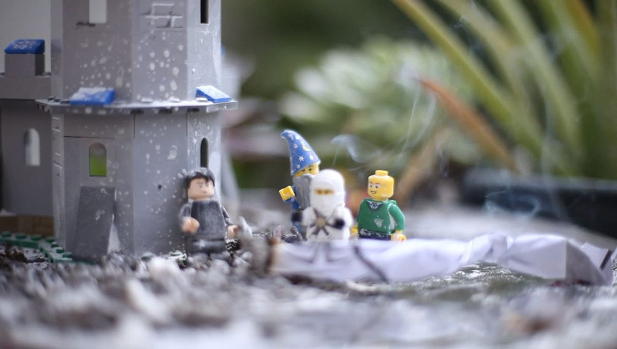 This reference shoot involved seeing what smoke looked like up against minifigs.