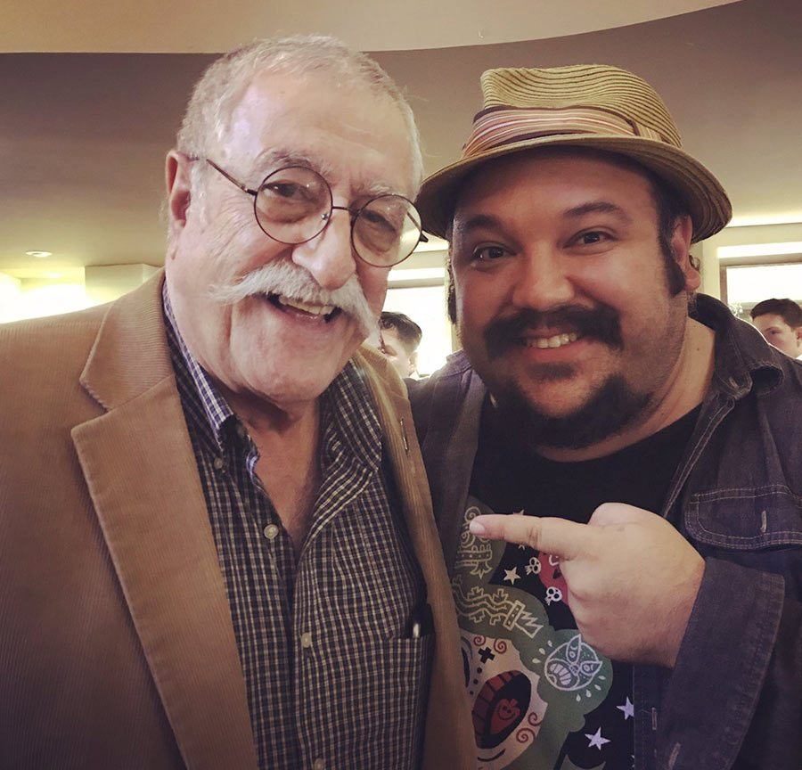 Sergio Aragonés and Jorge Gutierrez at a comic festival recently held in Queretaro, Mexico.
