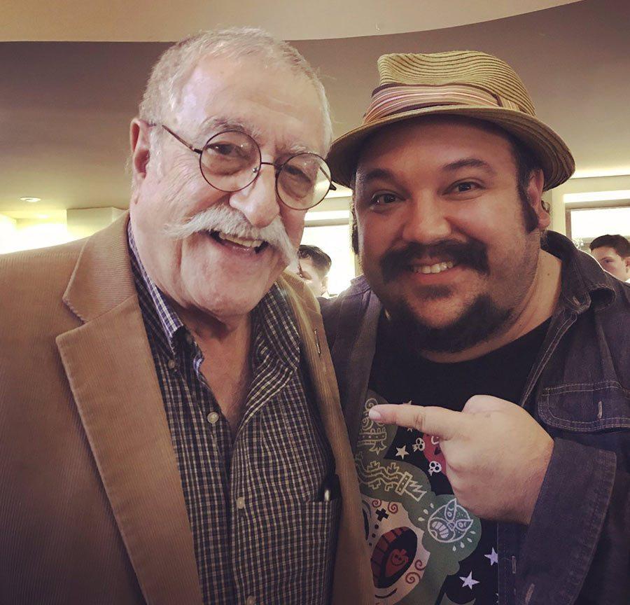 Sergio Aragonés and Jorge Gutierrez at a comic festival recently held in Queretaro, Mexico.