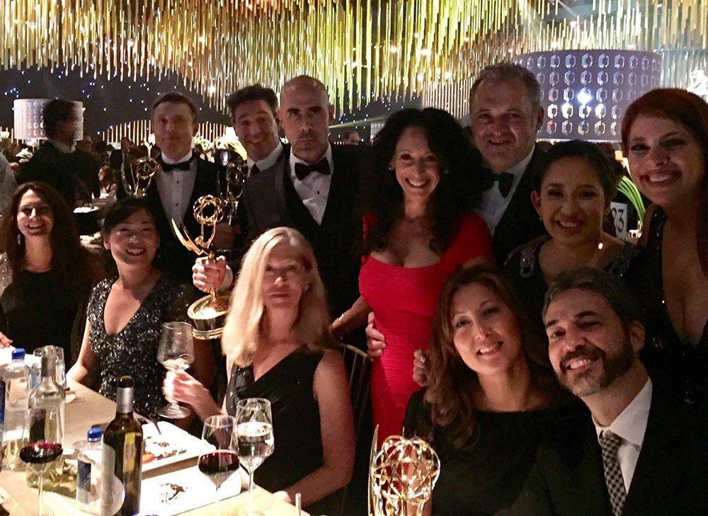 "The ""Samurai Jack"" crew at the Emmy Awards. Photo via Scott Wills."