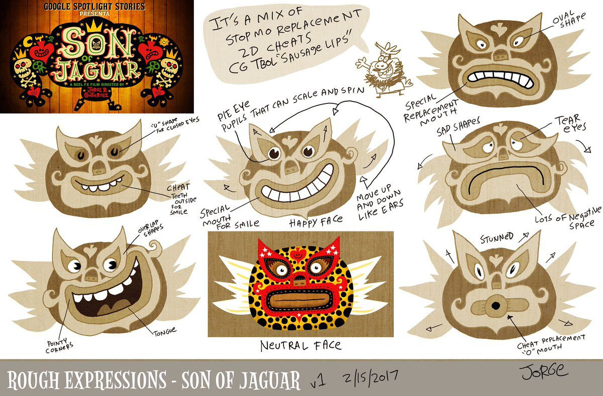 """Son of Jaguar"" rough expressions."