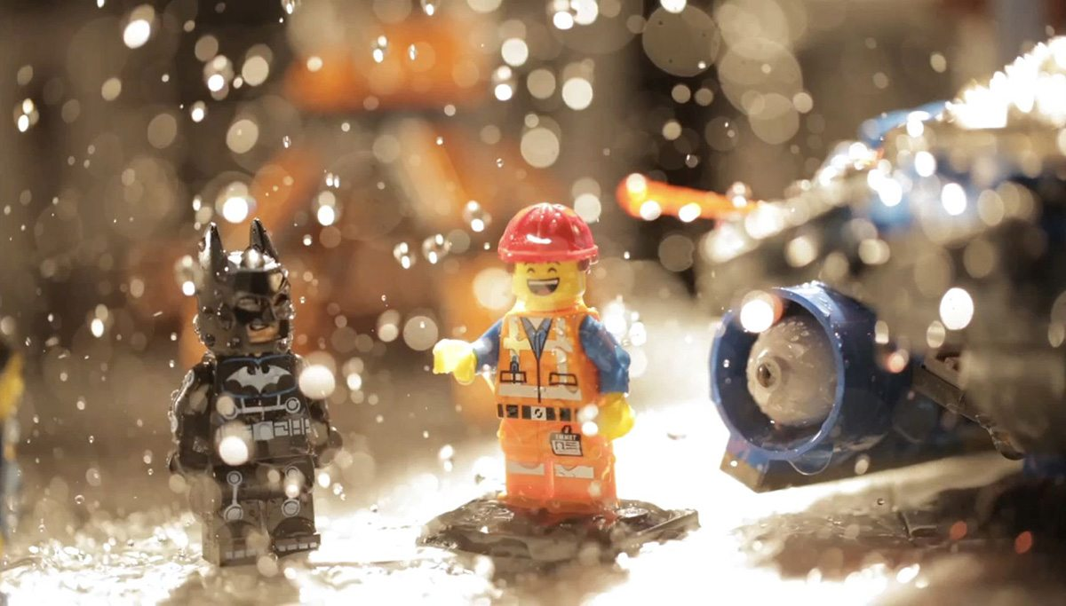 Other reference, including water spritzing, was captured to see what rain might look like in the Lego Ninjago world.
