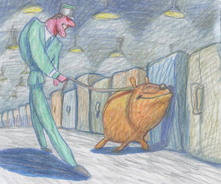 """Cop Dog"" by Bill Plympton."