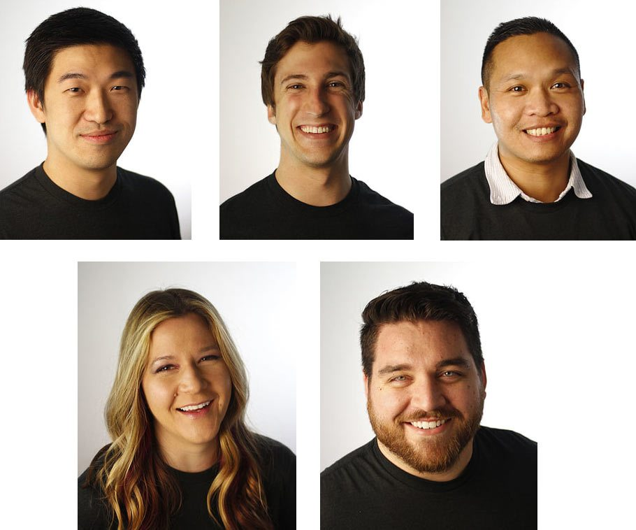 Former Walt Disney Animation Studios artists who are part of Taiko, clockwise from upper left: Zhang Shaofu (founder), Andrew Chesworth (head of development), Bobby Pontillas (art director), Joy Johnson (cg supervisor), Andrew Taylor Jennings (head of pipeline).