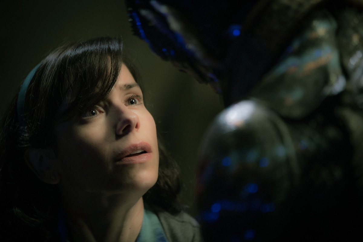 "Sally Hawkins with The Asset in ""The Shape of Water."""