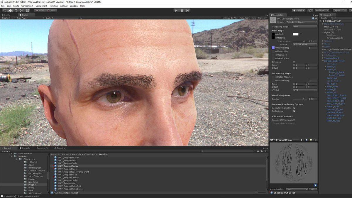 The Prophet in Episode 3, in a Unity screenshot.