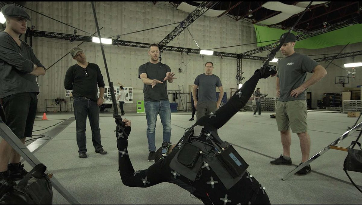 Motion capture was a large part of the virtual production behind the Adam shorts to bring both robots and digital humans to life.