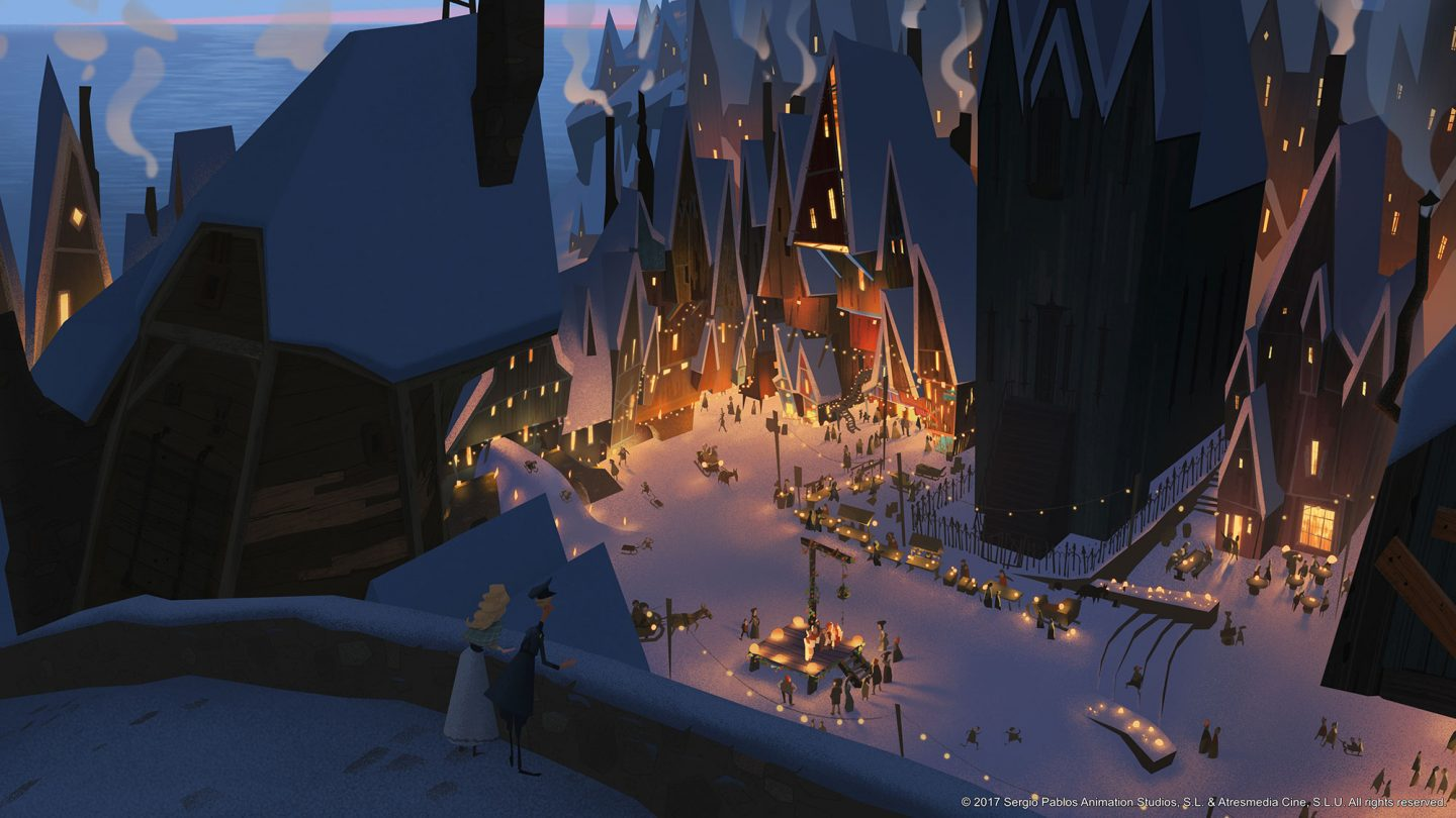 "Concept art from ""Klaus."""