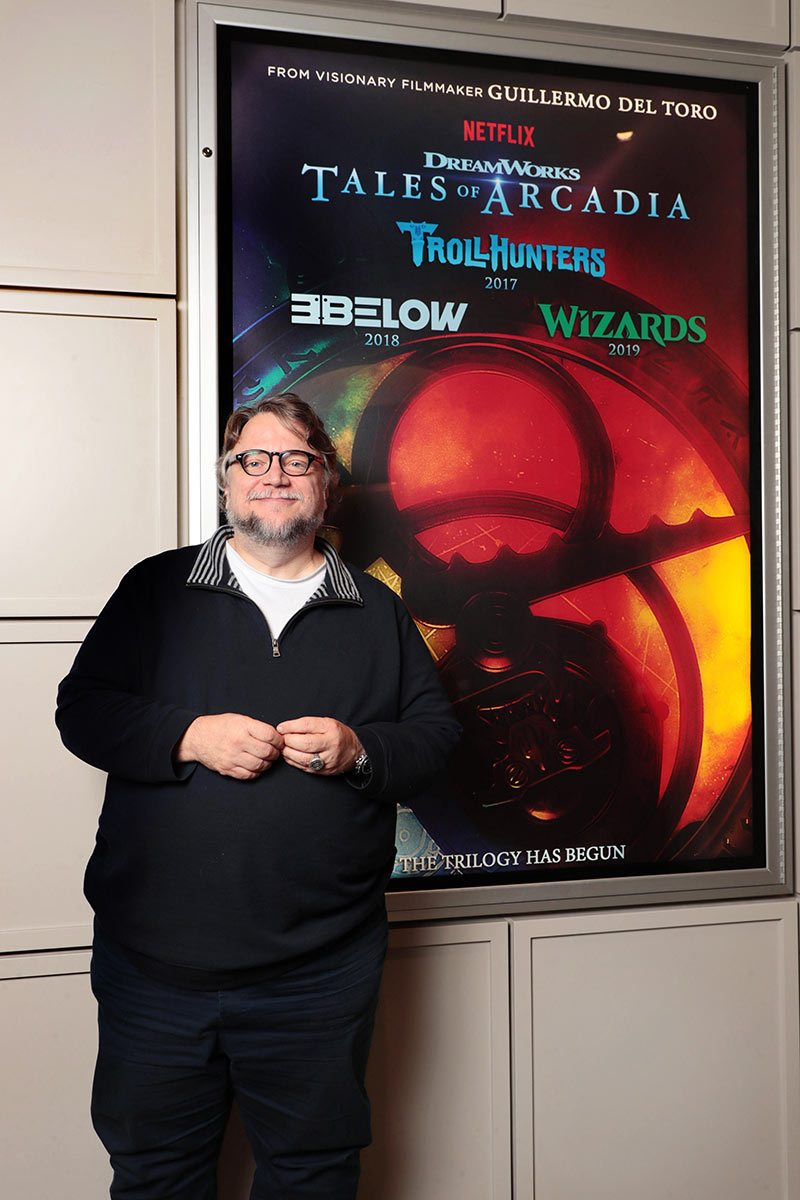 "Guillermo del Toro at a screening event tonight, where he announced the ""Tales of Arcadia"" trilogy series."