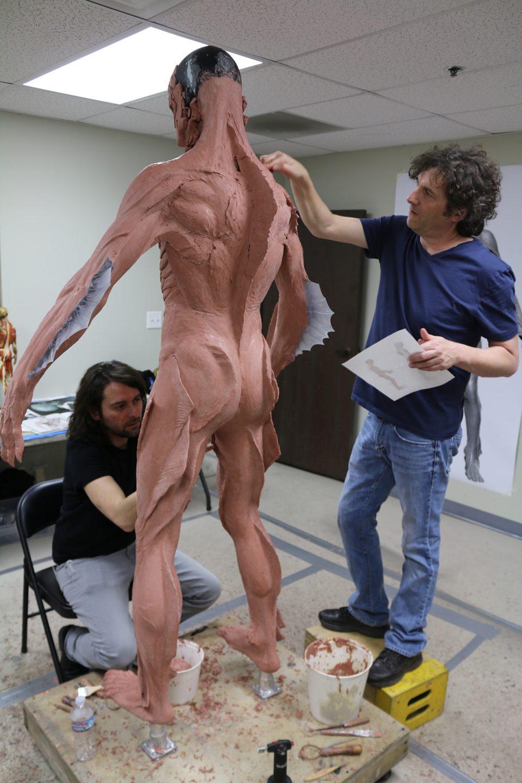 Legacy Effects crew sculpt The Asset.