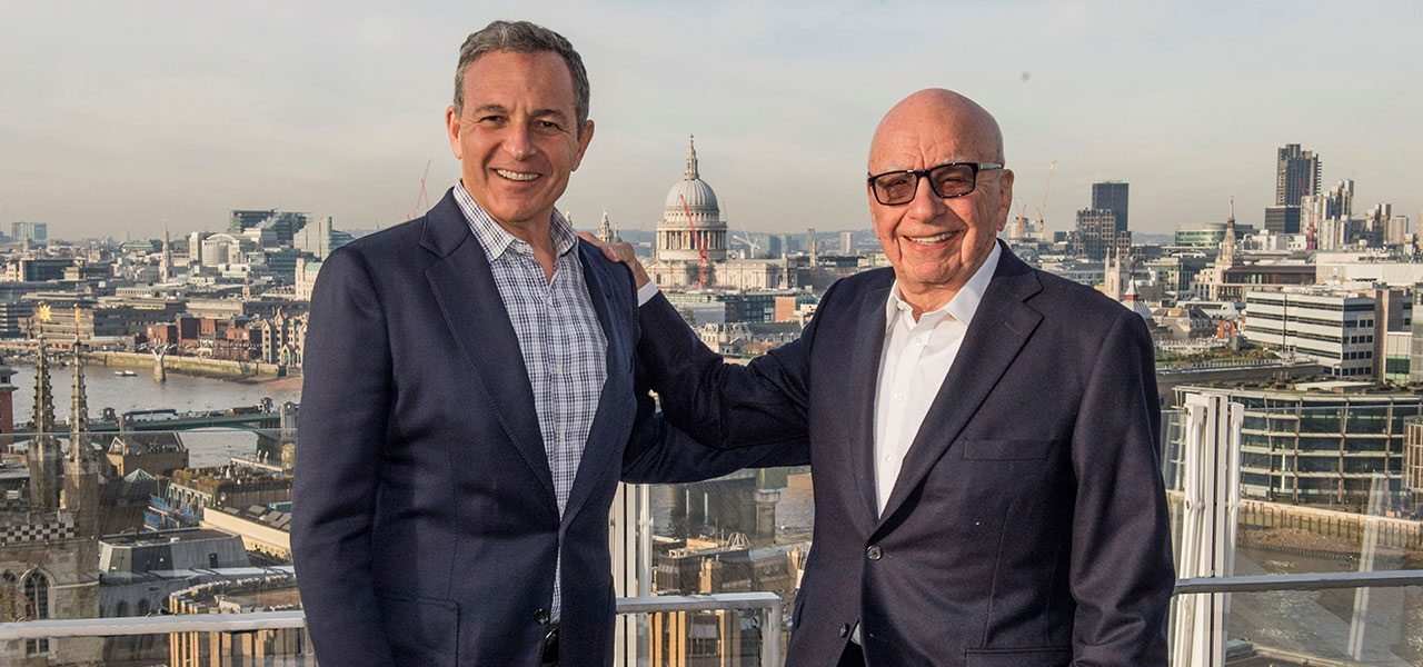 Disney CEO Robert Iger (left) and 21st Century Fox executive chairman Rupert Murdoch. Photo: Walt Disney Co.