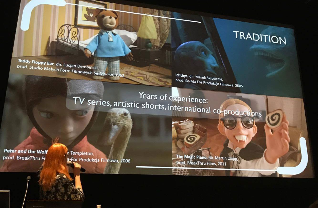 Momakin's Katarzyna Gromadzka presented Polish Quality projects during the recent Festival Stop Motion Montreal.