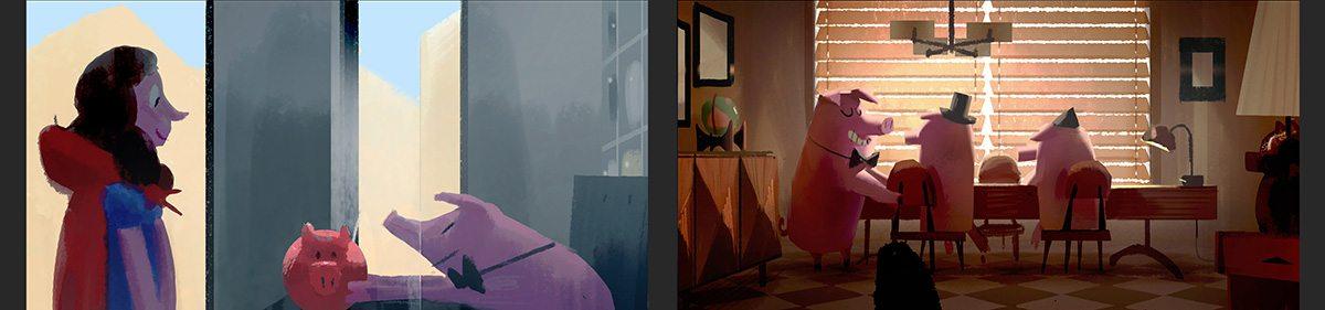 Pig Business. Color keys by Aurelien Predal.