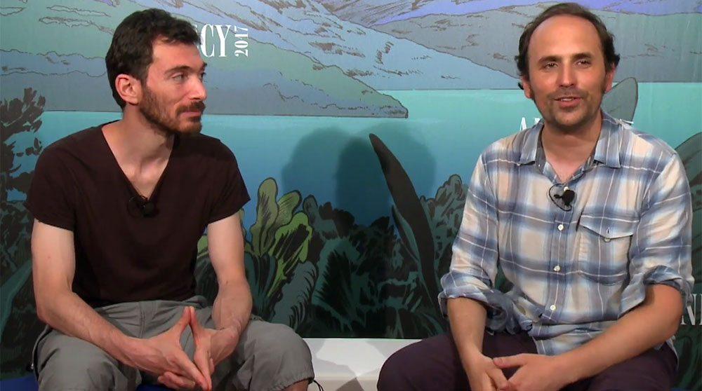 Directors Patrick Imbert (l) and Benjamin Renner.