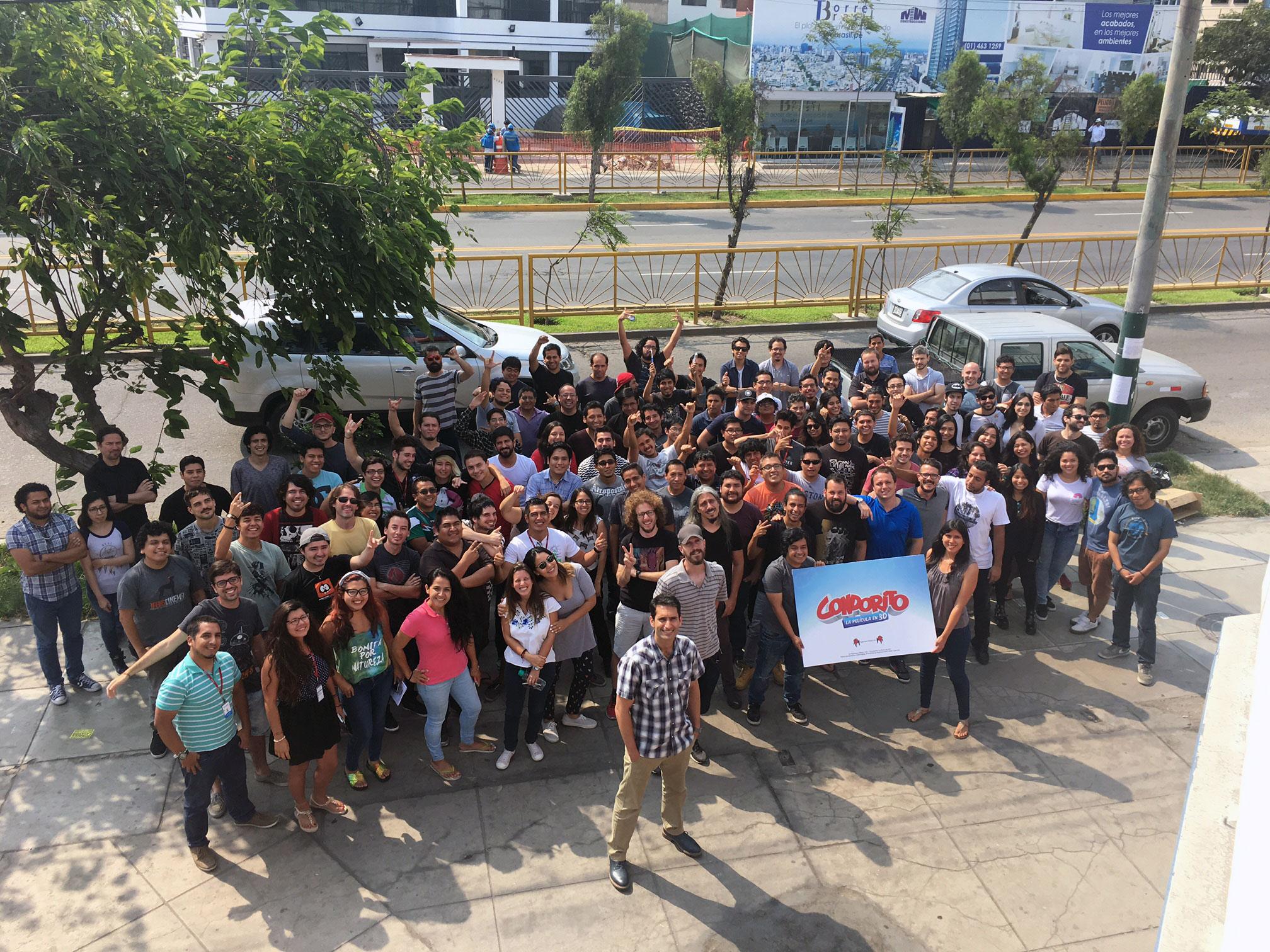 """""""Condorito: The Movie""""crew in Lima, Peru."""