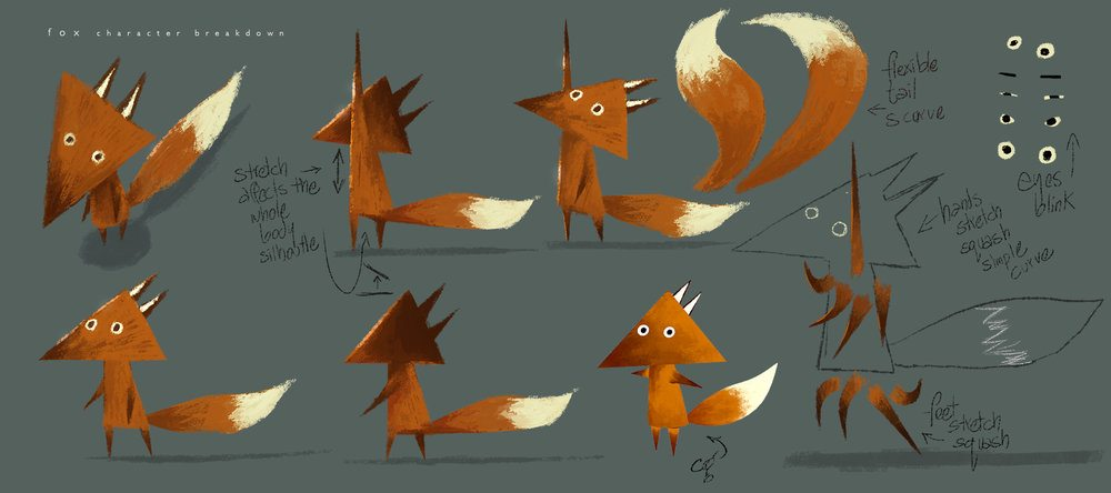 Character development of the Fox by Robin Joseph.