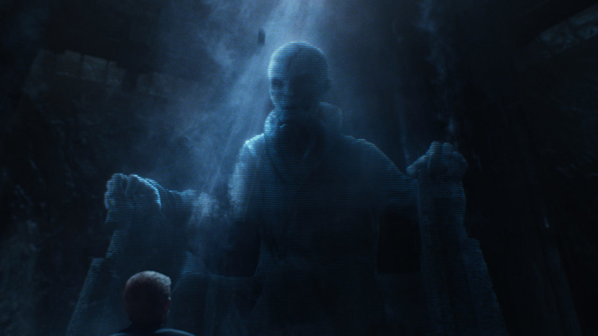 "Snoke as he appeared in ""The Force Awakens."" Image: starwars.com"