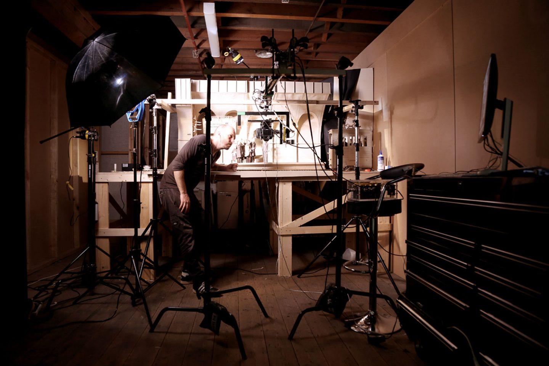 The film's lead animator, Pierce Davison.