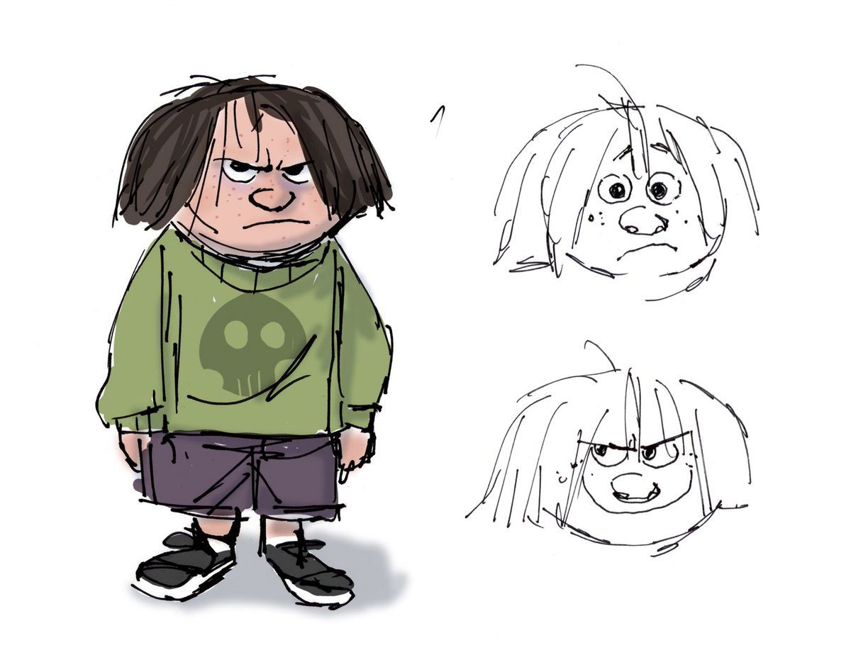 Early concepts of J.J. by Tony Fucile.