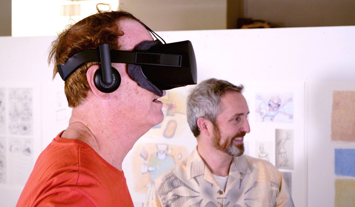Bill Plympton (left) with Terrence Masson, chair of SVA's MFA Computer Arts department.