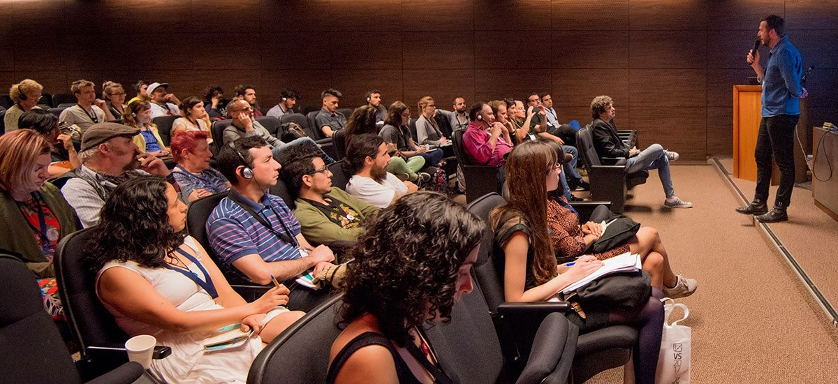 A conference session at the Animation! sidebar of Ventana Sur 2017.