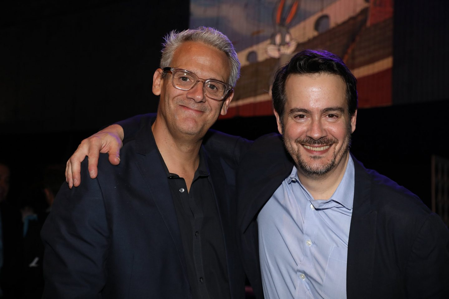 From l-r, Sam Register and Peter Girardi (executive vice president, Blue Ribbon Content and executive vice president, alternative programming, Warner Bros. Animation).