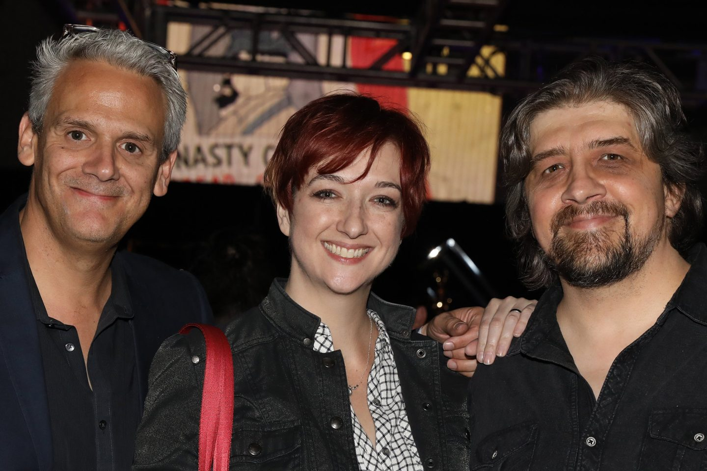 From l-r, Sam Register (president, Warner Bros. Animation and Warner Digital Series), Warner Bros. Animation producer Lauren Faust (DC Super Hero Girls) and producer Craig McCracken (The Powerpuff Girls, Wander Over Yonder).