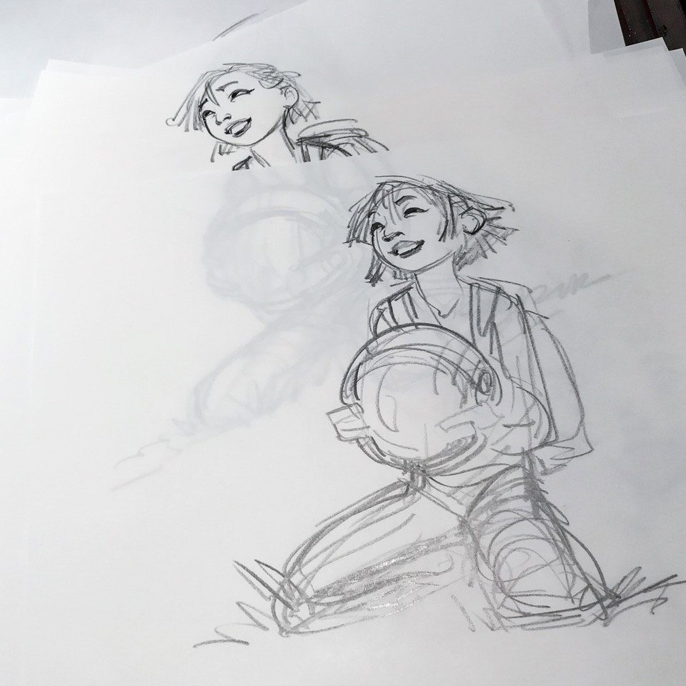 "Character concept sketches for ""Over the Moon"" by Glen Keane."