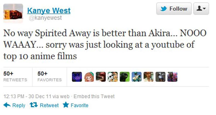 Kanye West tweet.