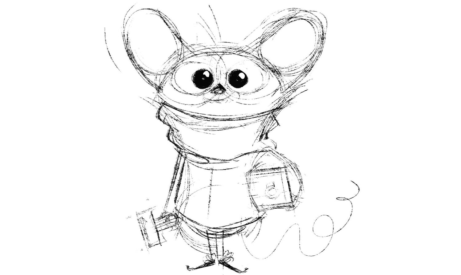 The drawing of the mouse that started it all.