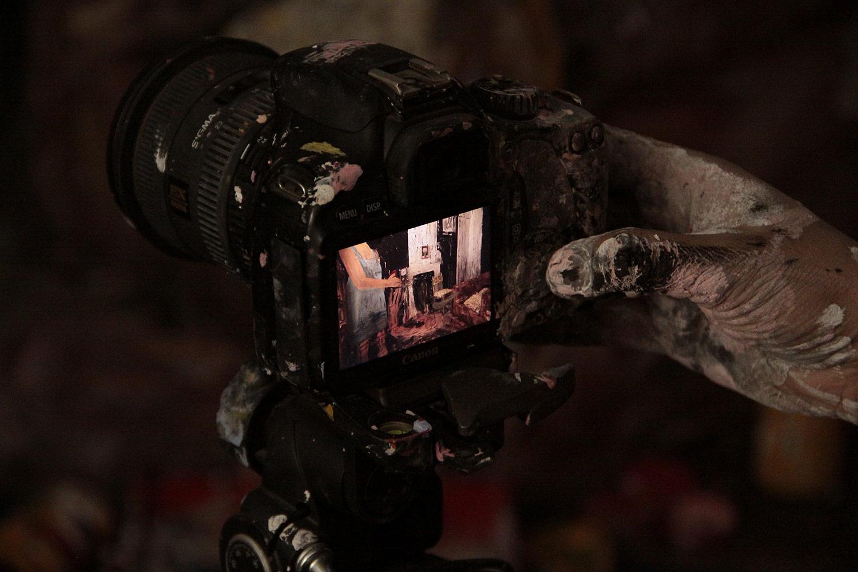 "Filming ""La Casa Lobo."""