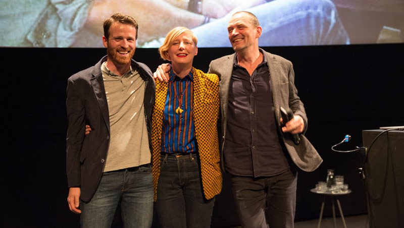 The merger between KLIK and HAFF was announced at this month's edition of KLIK in Amsterdam. From left to right, Bram Kranendonk, managing director, KLIK; Aneta Ozorek, artistic director, KLIK; and Peter Lindhout, interim director, HAFF. Photo: Coco Olankule.
