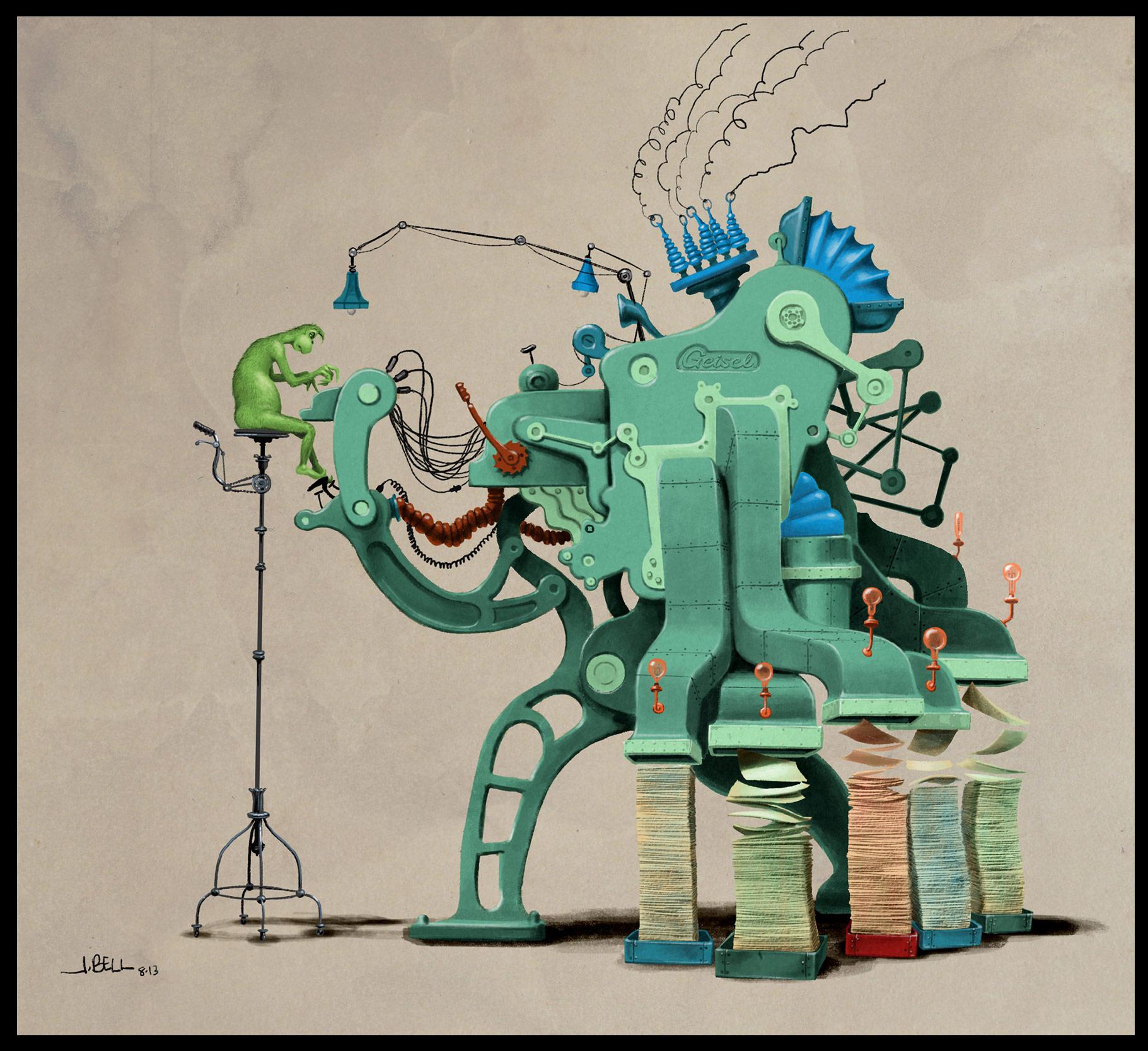 John Bell artwork.