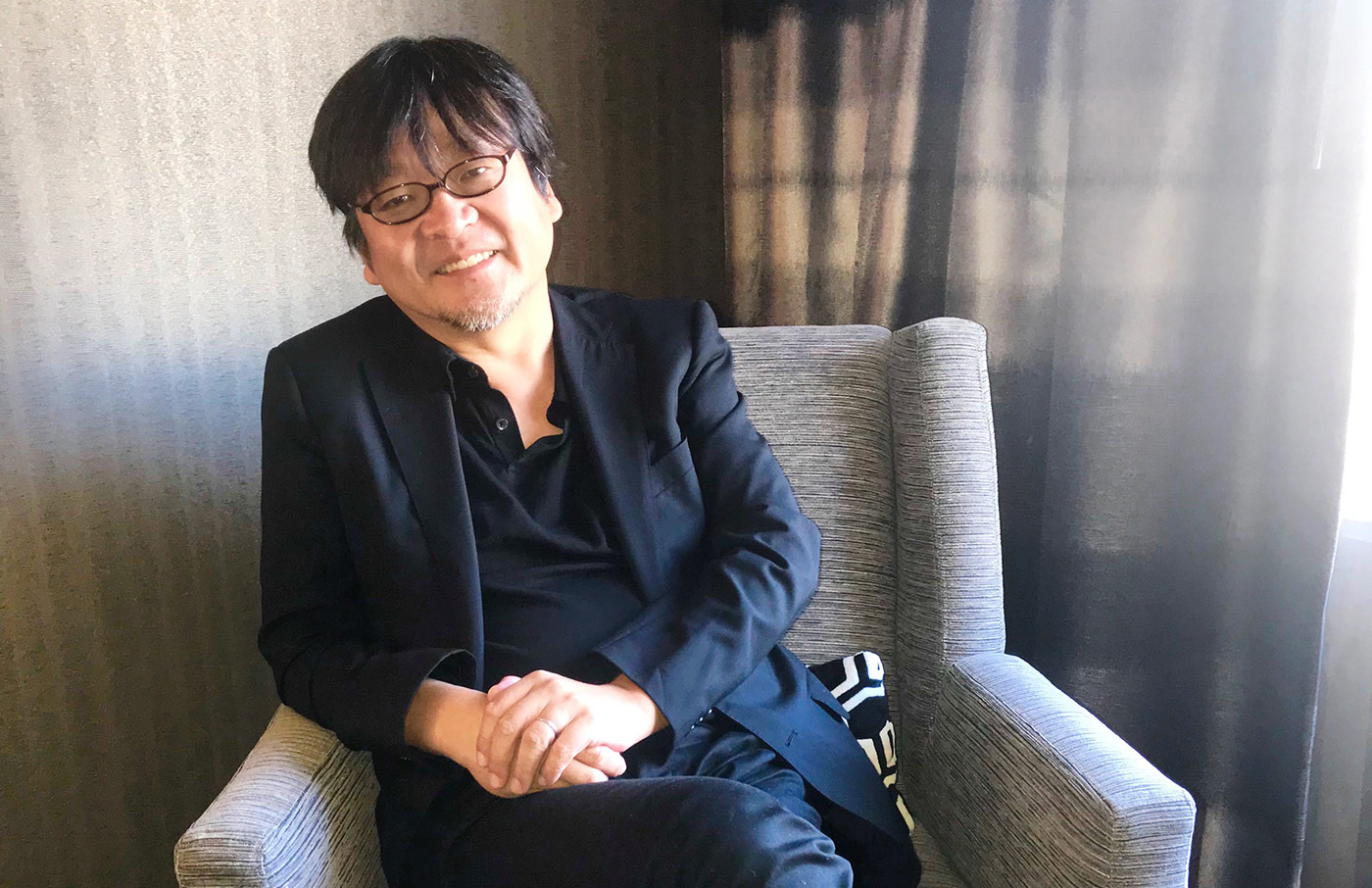 Mamoru Hosoda at Animation is Film festival last month in Los Angeles. Photo: Carlos Aguilar.