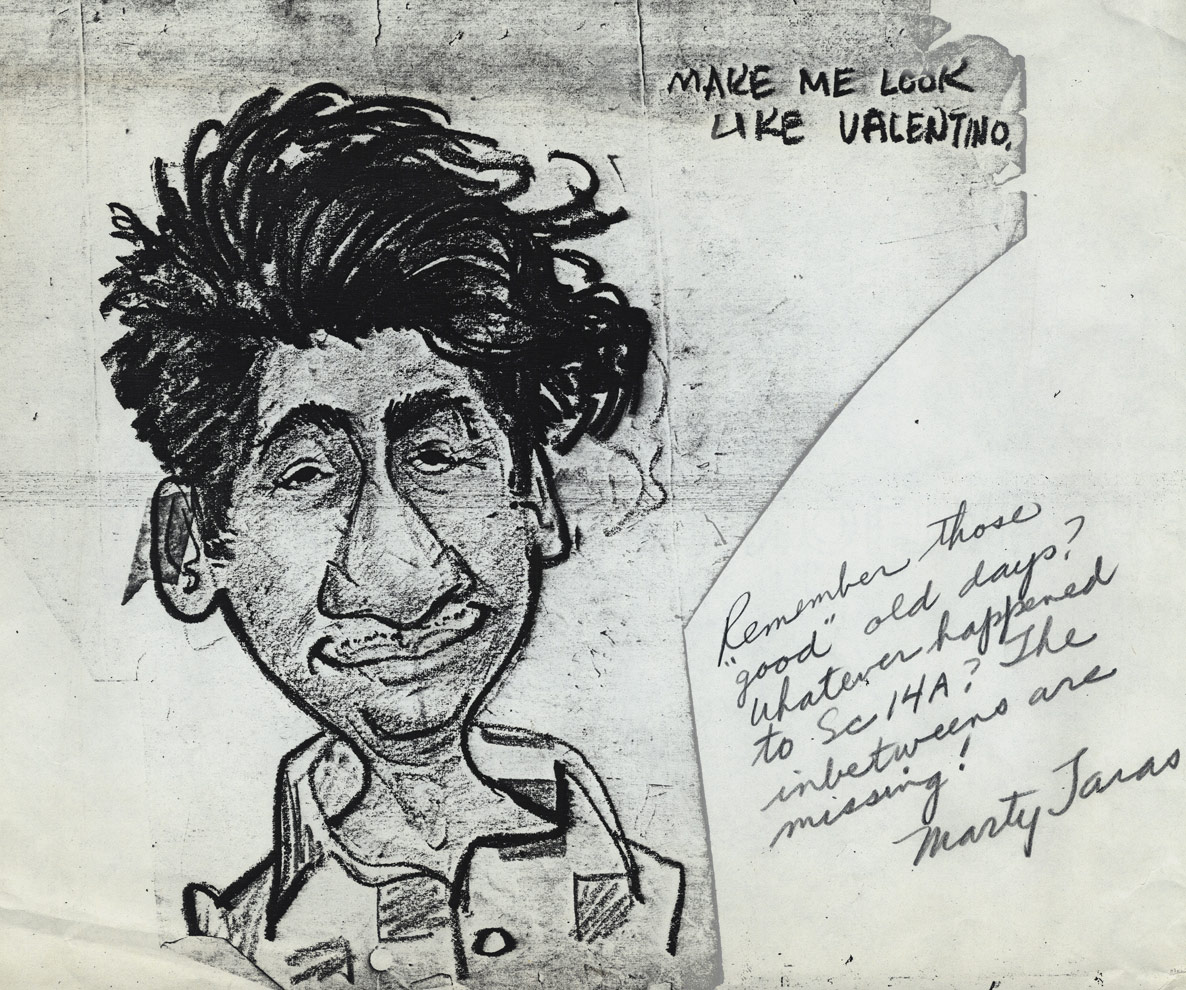 "Caricature of Pablo Ferro by animator Marty Taras ca. 1950s. Via <a href=""http://www.michaelspornanimation.com/splog/"">Michael Sporn's Splog</a>."