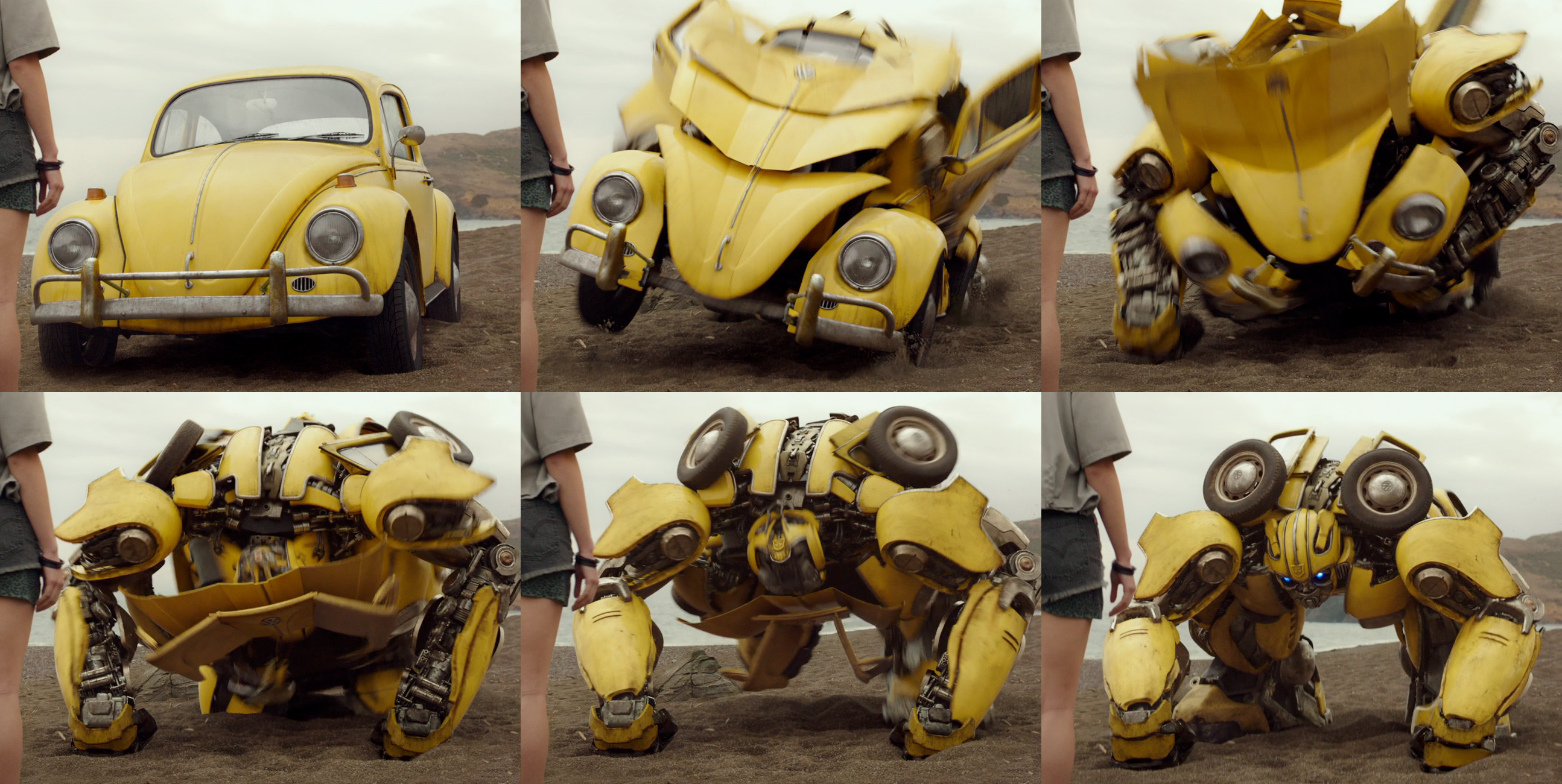 scenes tricks  techniques  ilm   transform characters  bumblebee