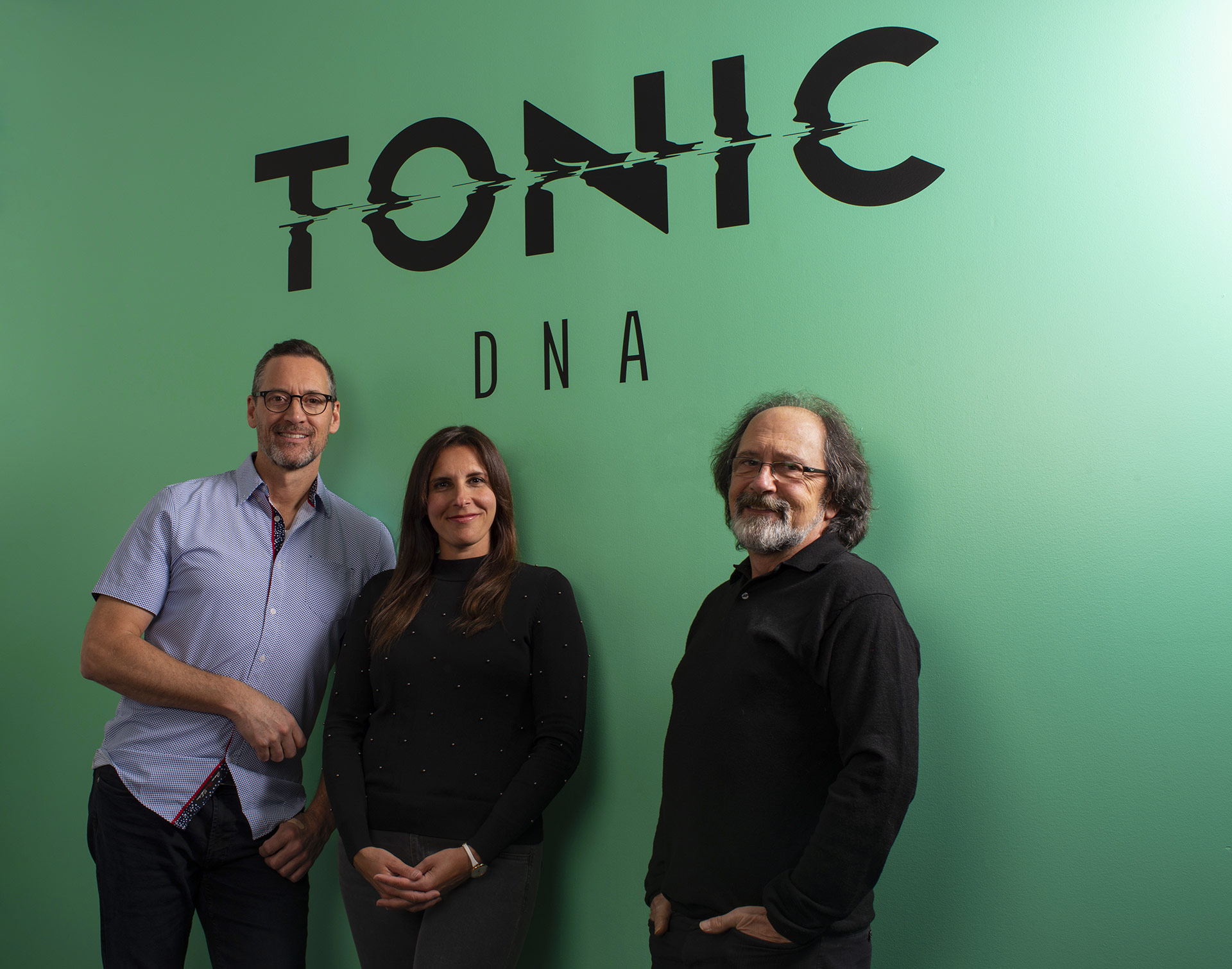 Tonic DNA principals (left to right) Howard Huxham, Stefanie Bitton, and Bernard Lajoie.