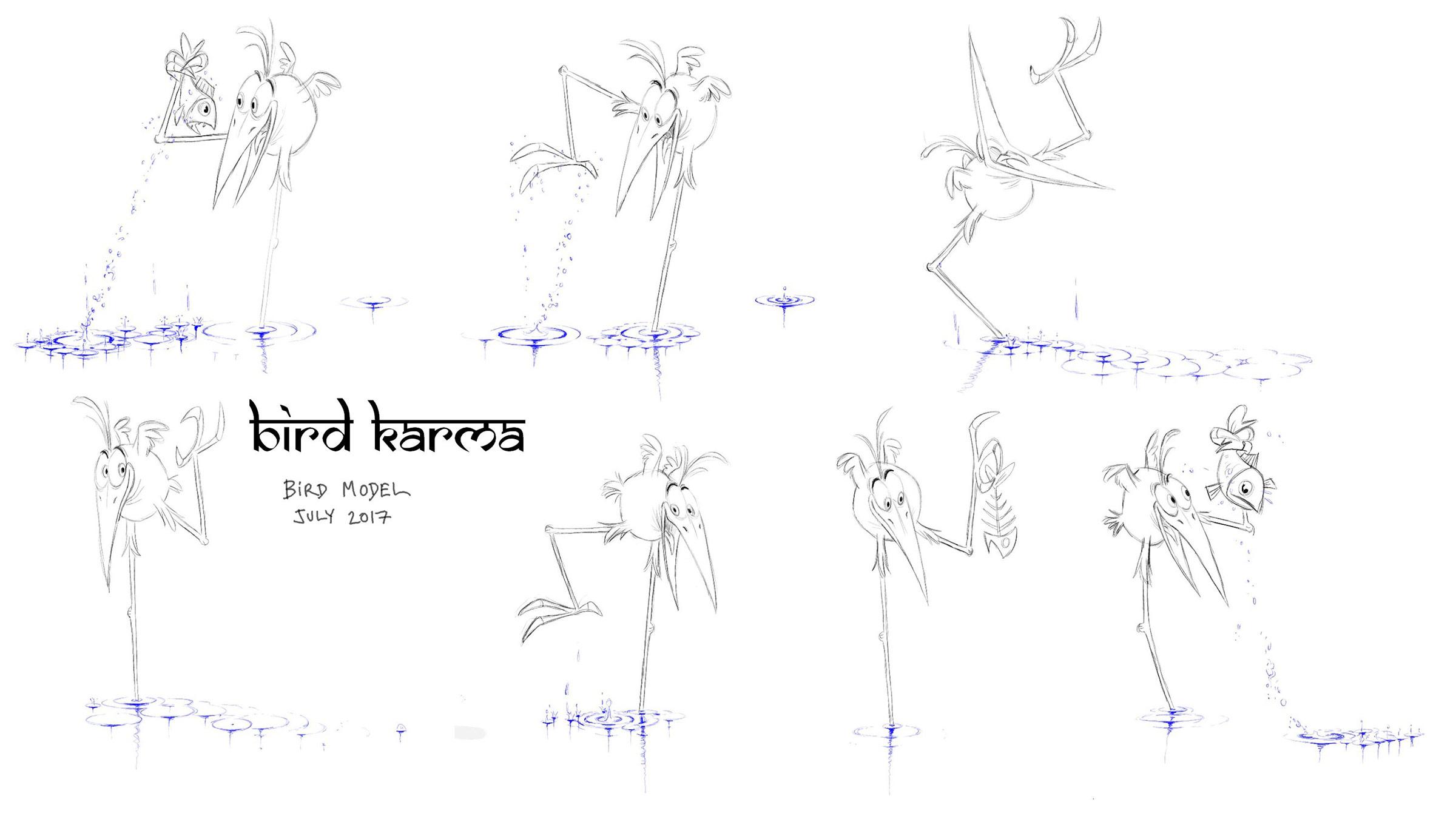 Model sheet drawn by director William Salazar.
