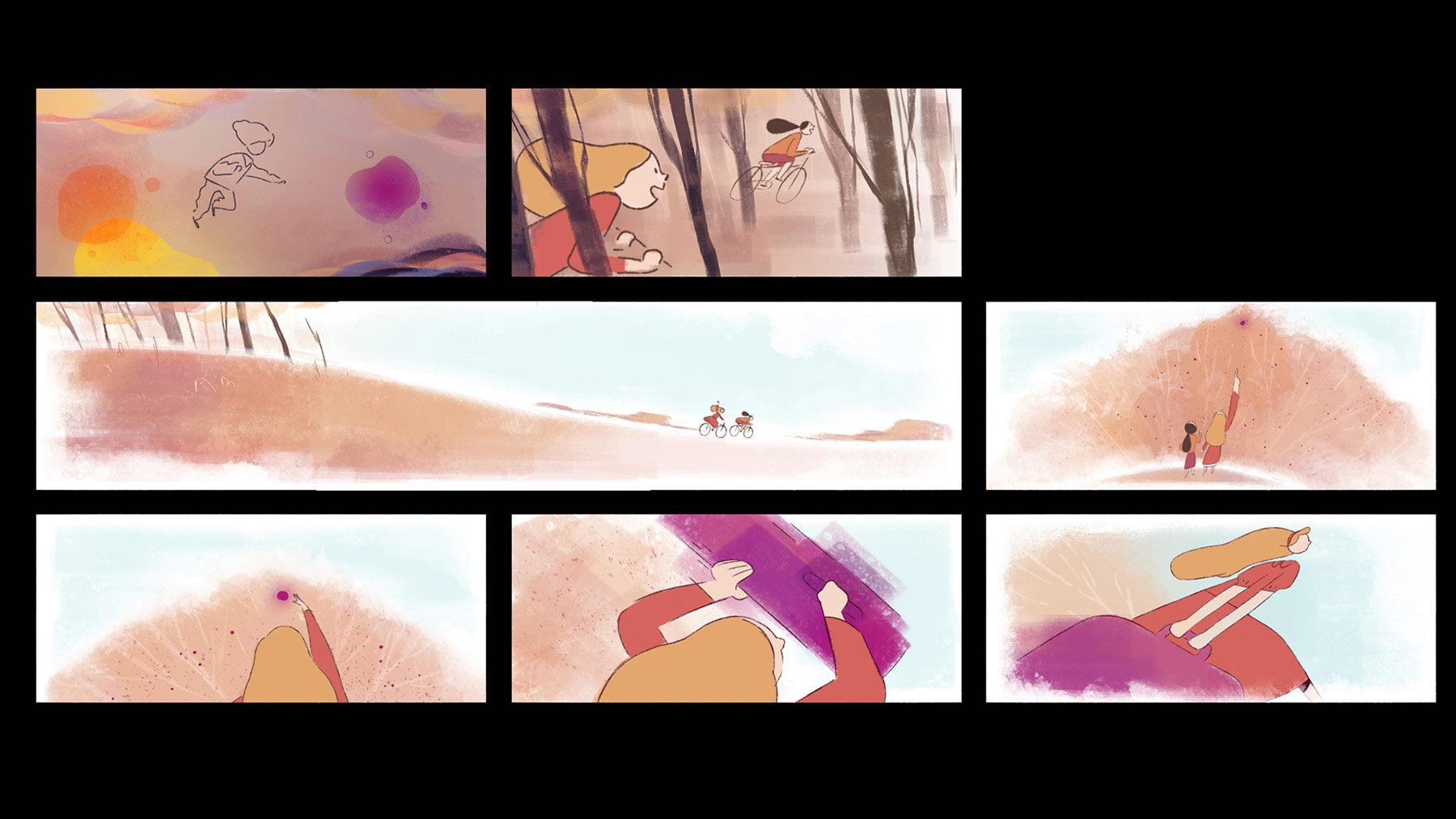Concept artwork showing the memories of the main character.