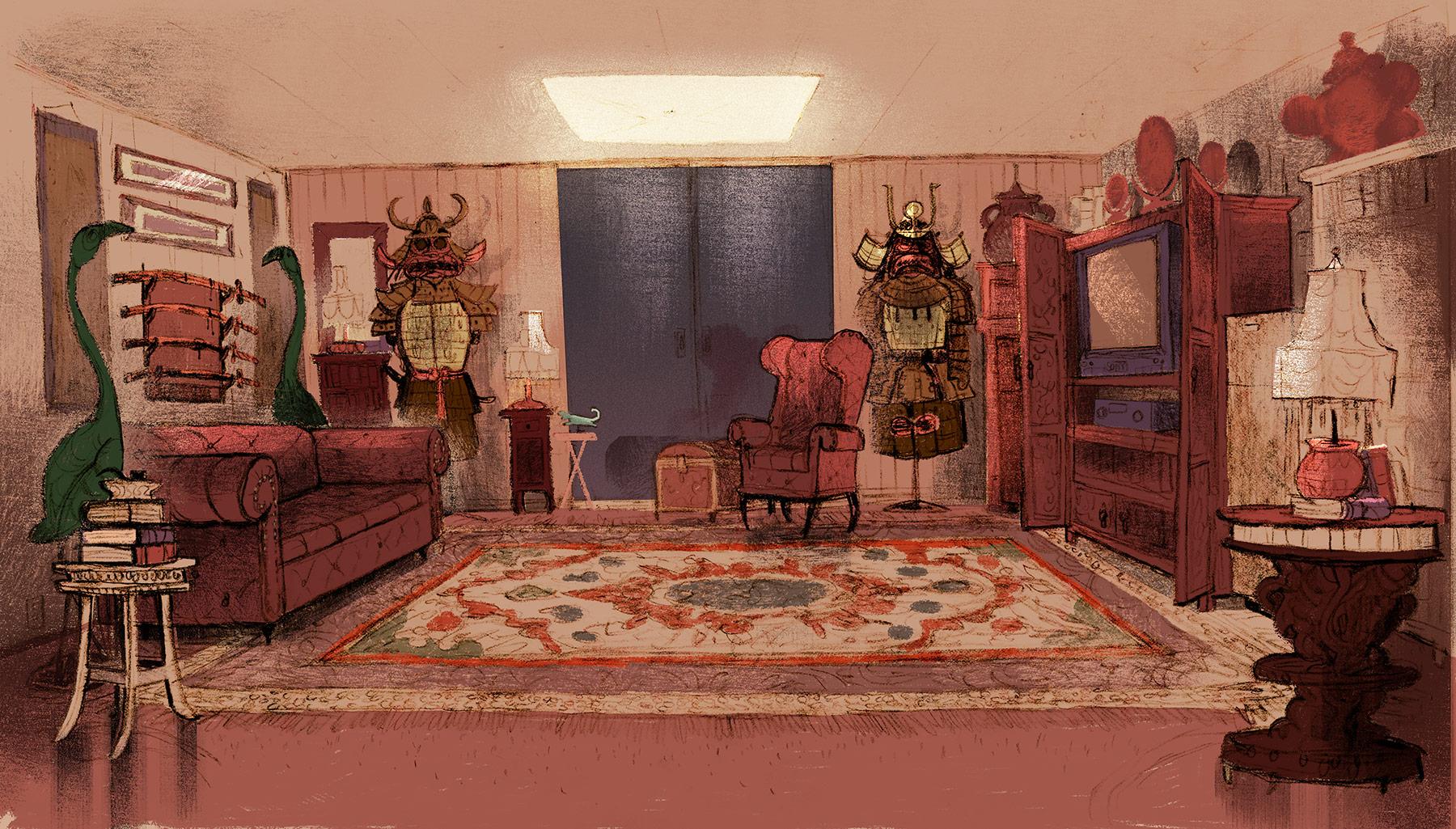 Painting by Chris Sasaki.