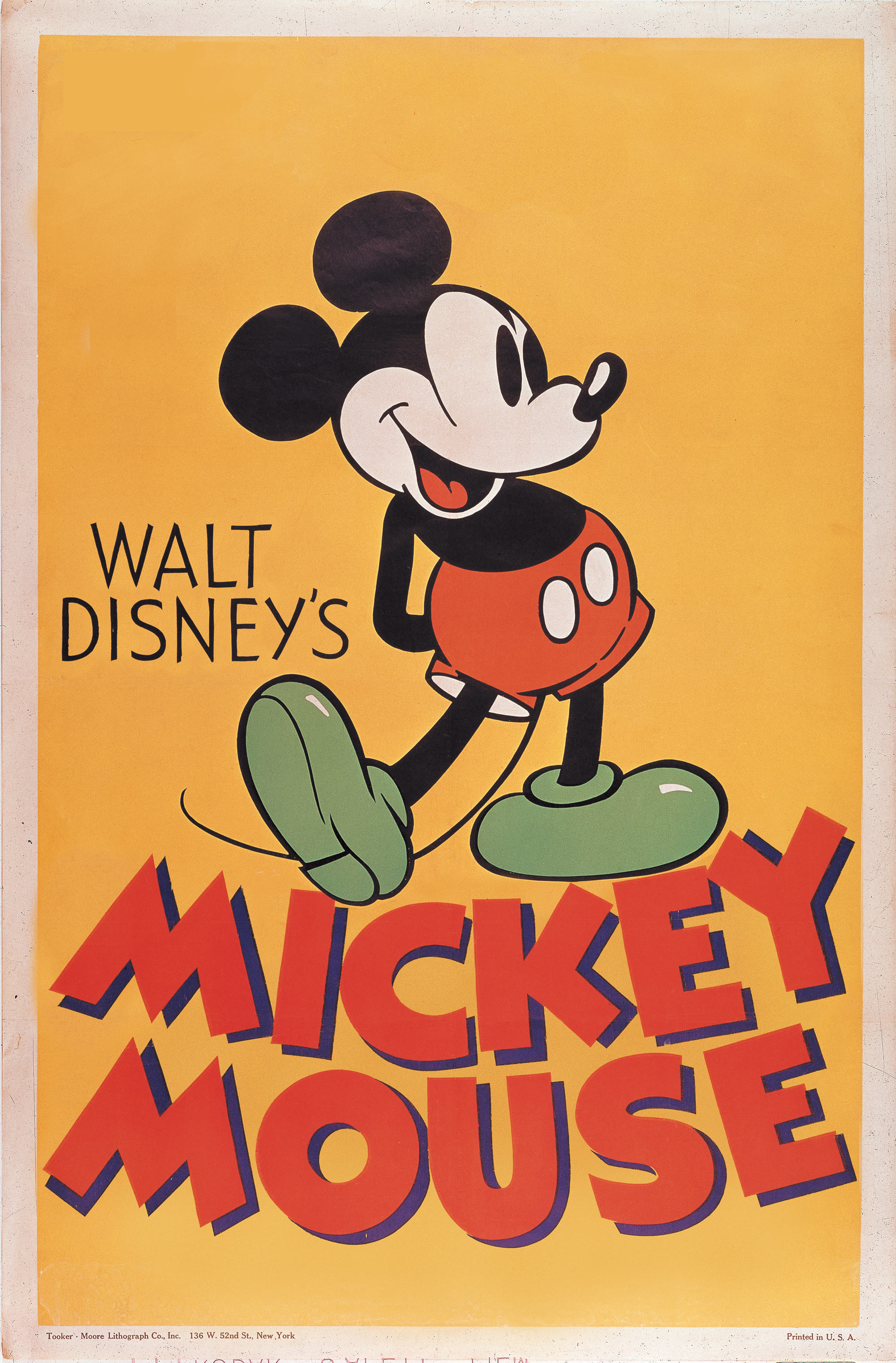 Mickey Mouse poster. Courtesy of the Walt Disney Archives ...