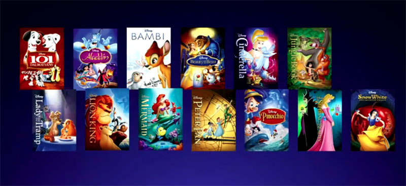 "Disney's ""Signature Collection"" of animated features."