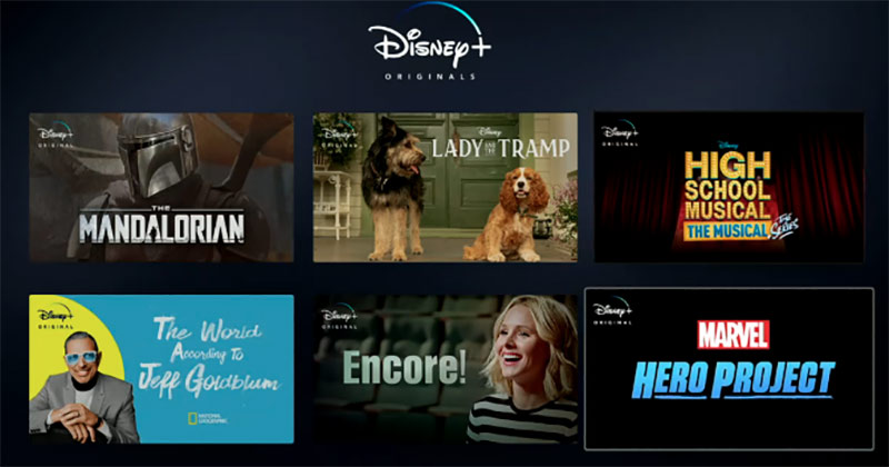 A look at Disney+ programming.