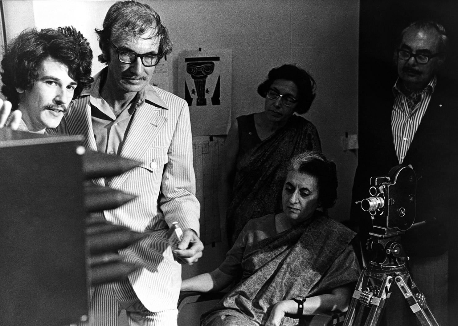 Jacques Drouin, Norman McLaren, Indira Gandhi.