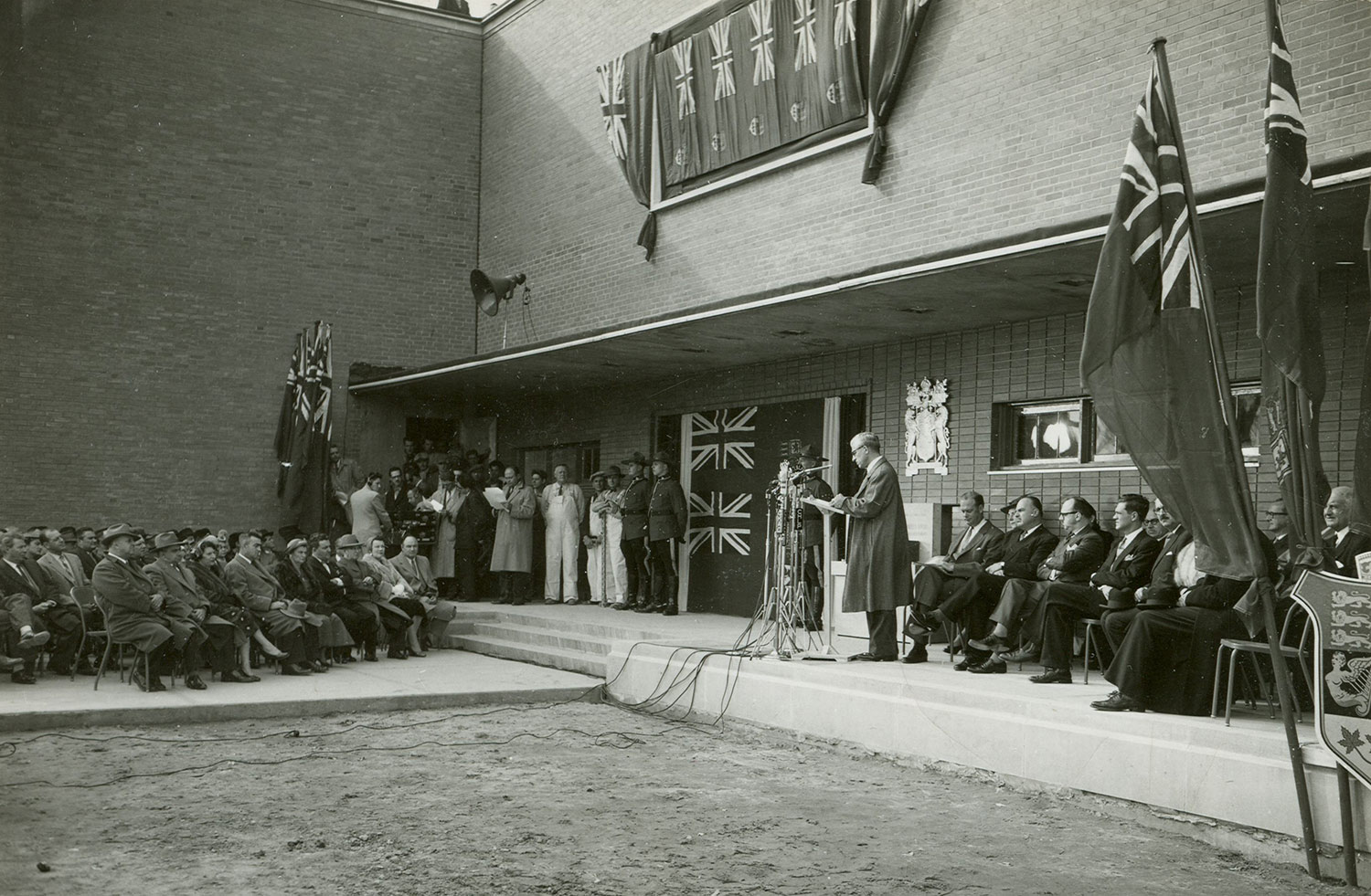 Inauguration of the NFB studio in Montreal, 1956