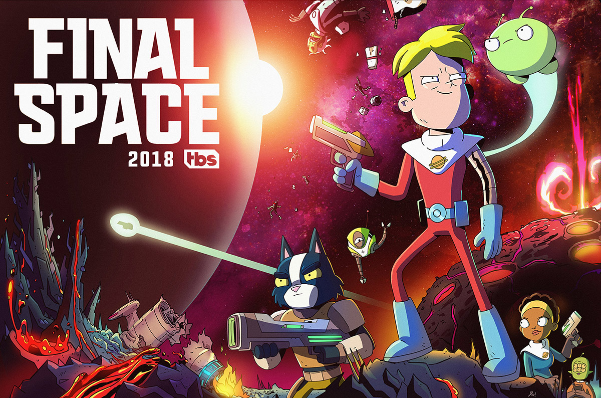 "The TBS/Shadowmachine series ""Final Space"" was animated at Jam Filled Entertainment."