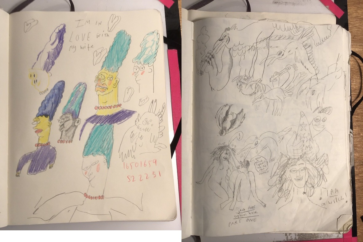 Pages from Gate's sketchbook.