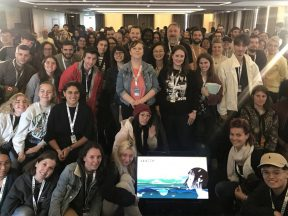 A photo of the attendees at the 2019 Annecy International Animation Film Festival's Master Your Career in Animation/VFX panel, which drew students from all over the world. Photo by Angelica Vergel.